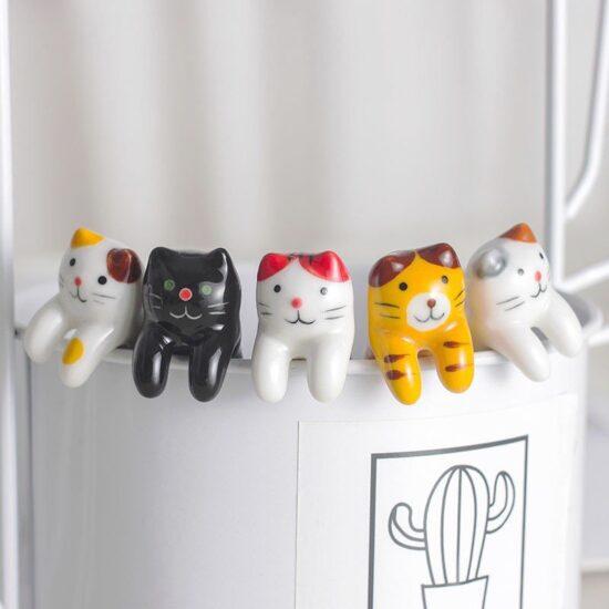 ceramiczne łyżeczki do herbaty w koty