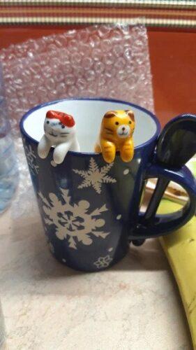 Ceramiczne łyżeczki do herbaty w koty photo review