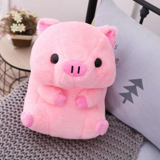 śmieszny różowy pluszak świnka