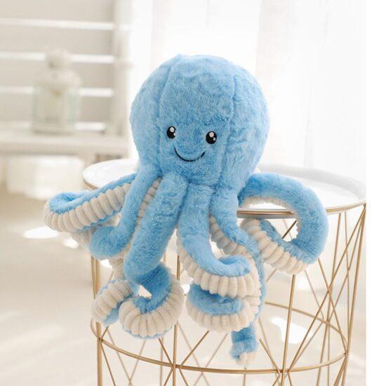 smieszny pluszak osmiornica kolor niebieski
