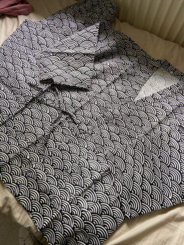 Bawełniany szlafrok męski we wzory photo review