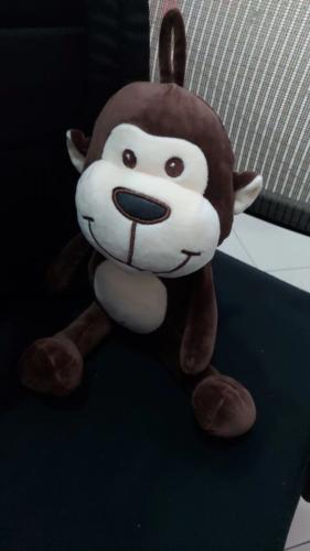 Śmieszny pluszak w kształcie małpki photo review