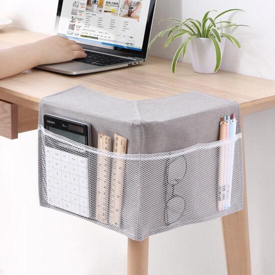 materiałowy organizer na biurko