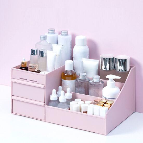 rozowy organizer na kosmetyki