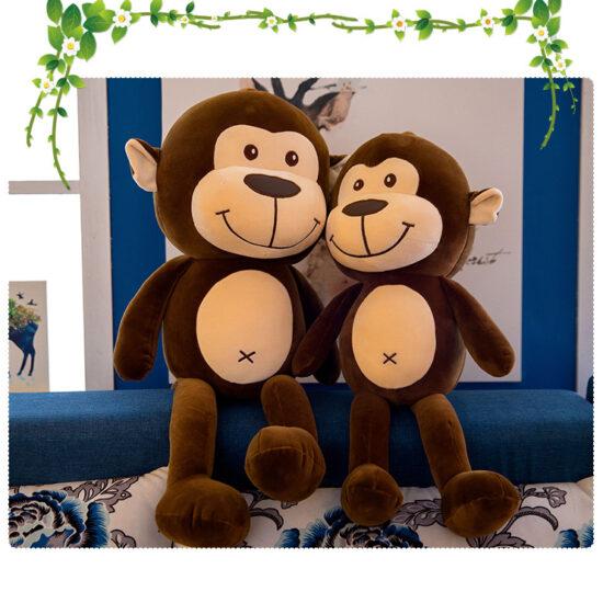 śmieszny pluszak małpka