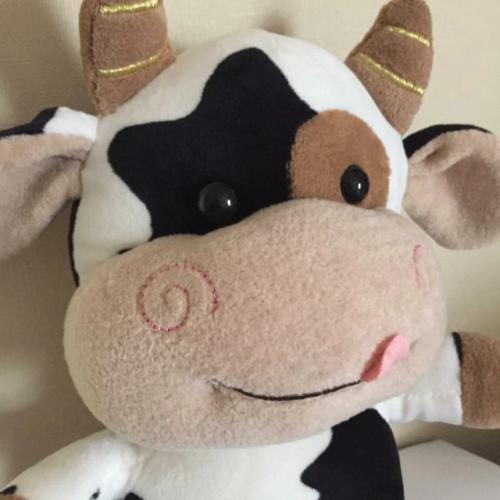 Śmieszny pluszak maskotka w kształcie zwierzaka - krówka photo review