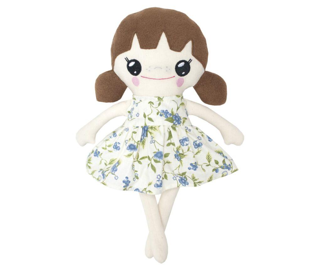 szmaciana lalka dla rocznej dziewczynki