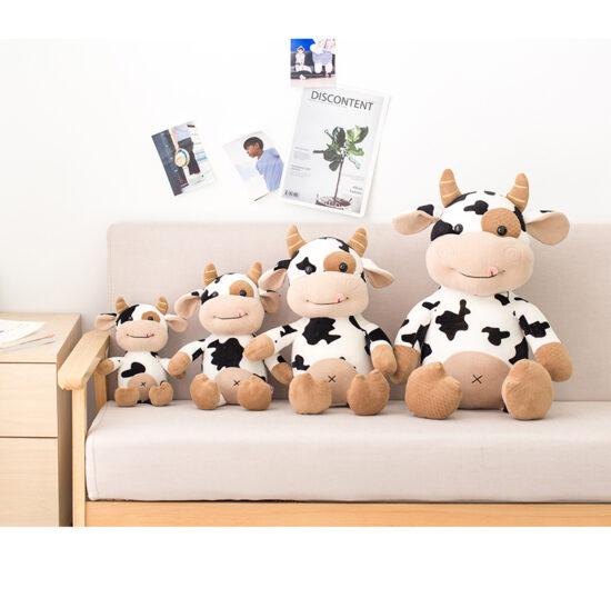 smieszny pluszak krowa w roznych rozmiarach