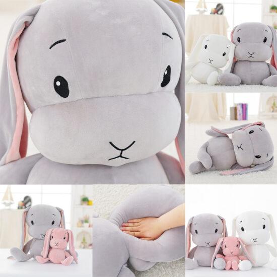 dokładne zdjęcia z bliska śmiesznego pluszaka królika
