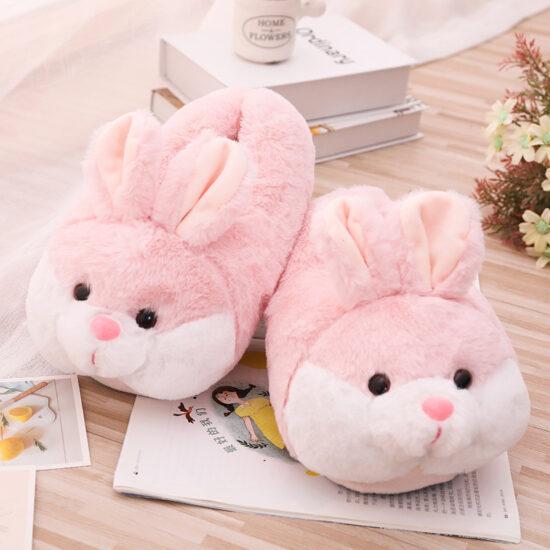 śmieszne kapcie króliki