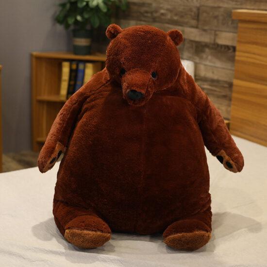 śmieszny pluszak w kształcie niedźwiedzia