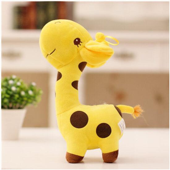 śmieszny pluszak w kształcie żyrafy kolor żółty