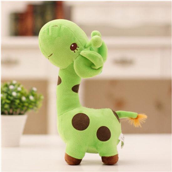 śmieszny pluszak w kształcie żyrafy kolor zielony